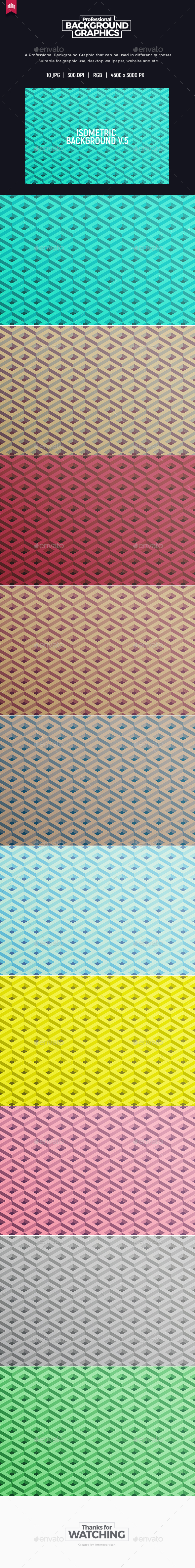 Isometric Background V.5 - Abstract Backgrounds