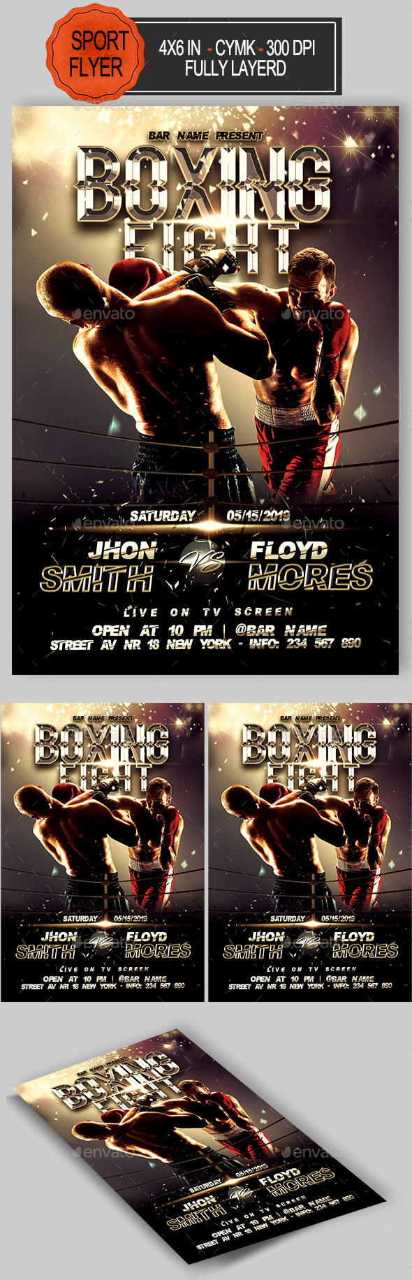 GraphicRiver Boxing Flyer 20376393
