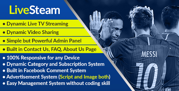 LiveStream - Online Video and Live Streaming Management System - CodeCanyon Item for Sale