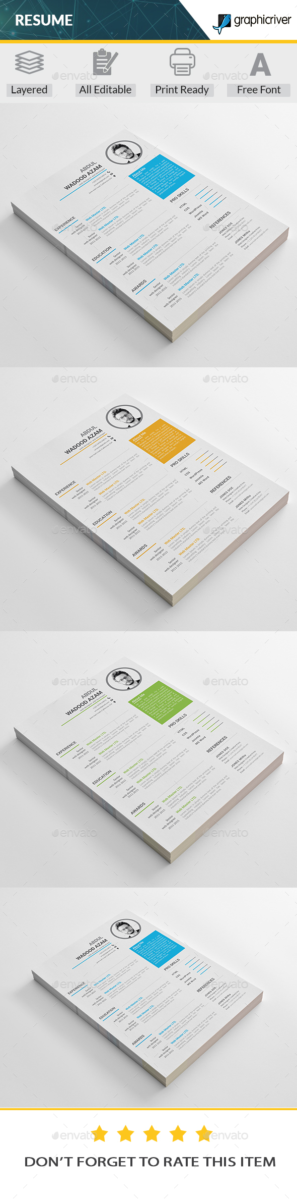 GraphicRiver Resume 20376659