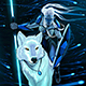 Elf with White Wolf - GraphicRiver Item for Sale
