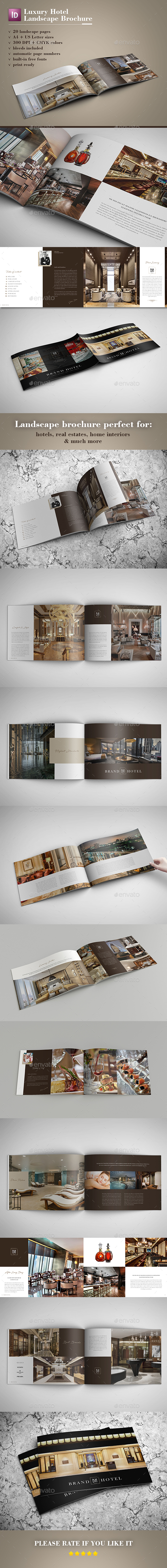 GraphicRiver Luxury Hotel Landscape Brochure 20377151