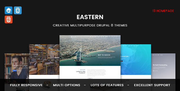 Image of Eastern - Responsive Multipurpose Business Drupal 8 Theme