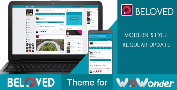 Beloved-Theme for WoWonder Social PHP Script