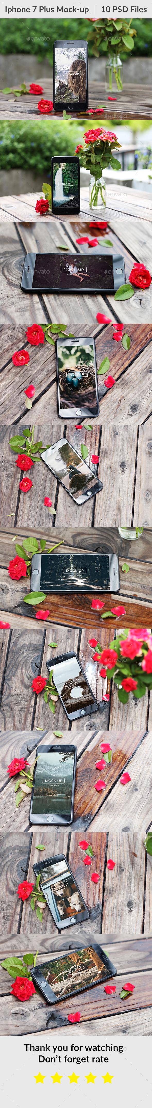 10 Phone 7 Plus Mockup - Mobile Displays