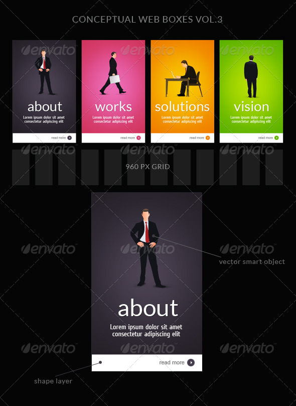 Web Box or Banner Templates 3 - Web Elements