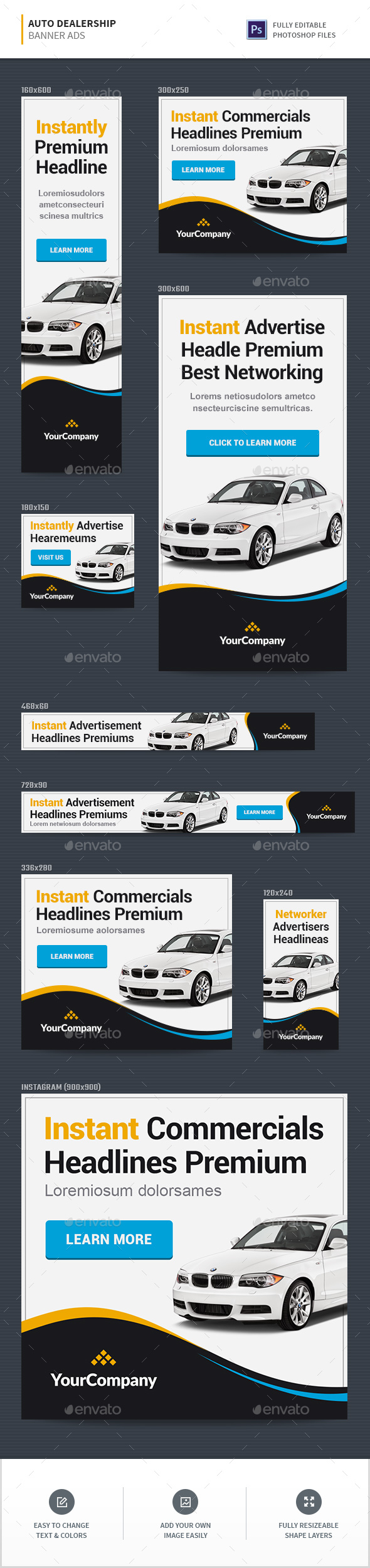 GraphicRiver Auto Dealership Banners 20377876