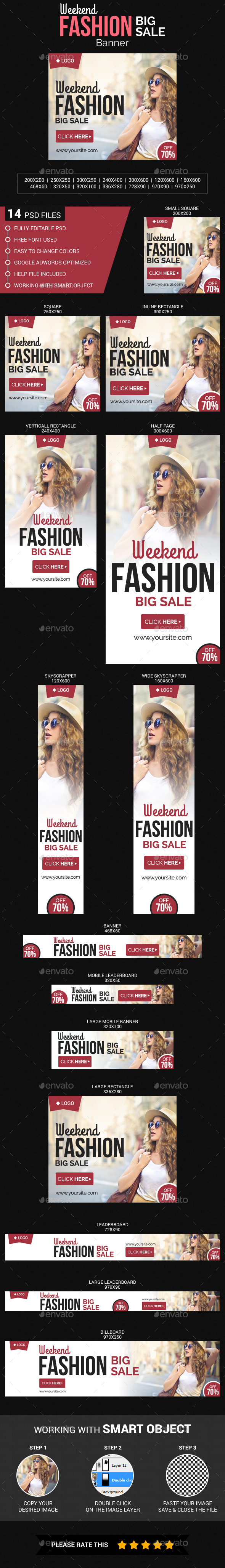 Weekend Fashion Sale - Banners & Ads Web Elements