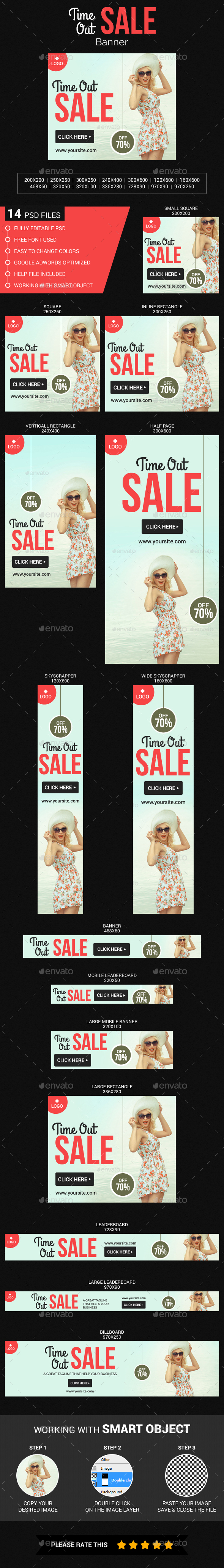 Time Out Sale - Banners & Ads Web Elements