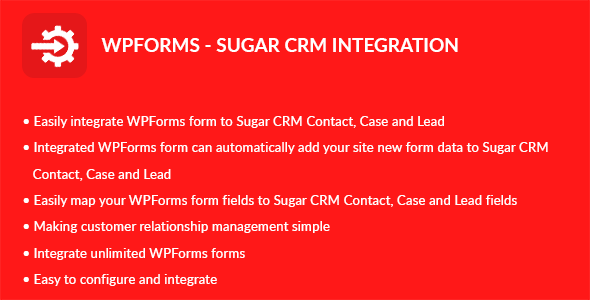 CodeCanyon WPForms Sugar CRM Integration 20378176