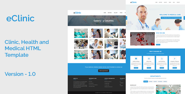 eClinic - Clinic, Health and Medical HTML Template