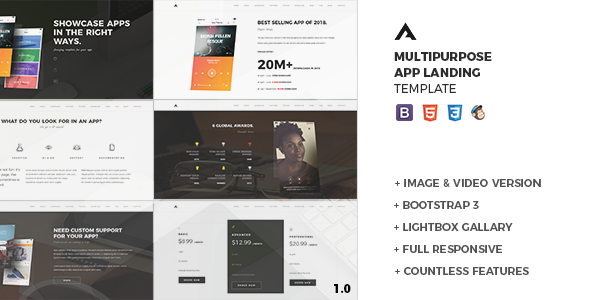 Aria – One Page Parallax App Landing Template
