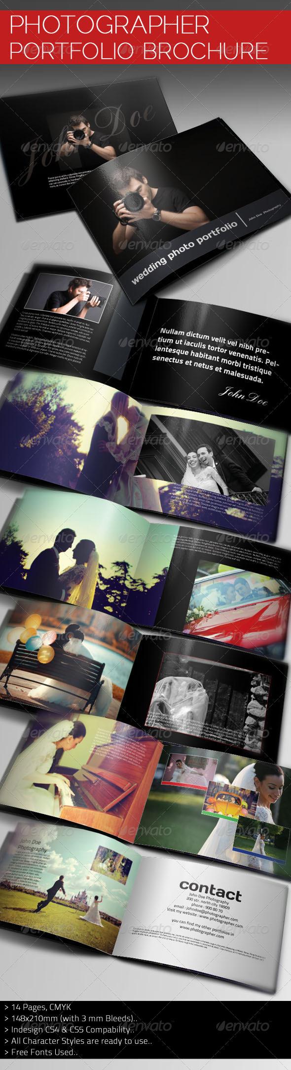 Photographer Portfolio Brochure Template - Portfolio Brochures