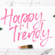 Happy Trendy Font - GraphicRiver Item for Sale