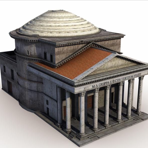 3DOcean Pantheon Rome 20378523