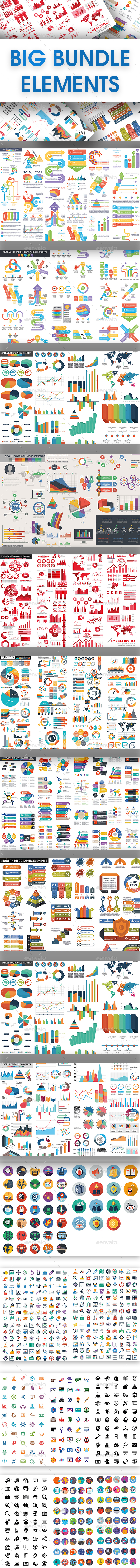 Big Bundle Elements - Infographics