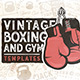 20 Vintage Boxing & Gym Badges - GraphicRiver Item for Sale
