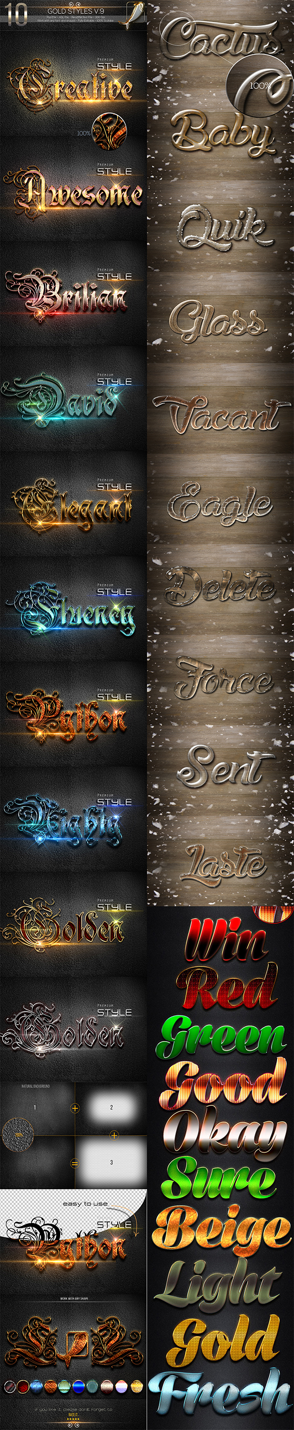 30 Bundle Text Style R4-6 - Styles Photoshop