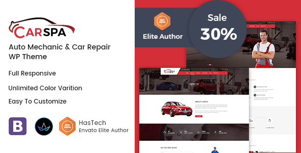 Carspa - Auto Mechanic & Car Repair WordPress Theme