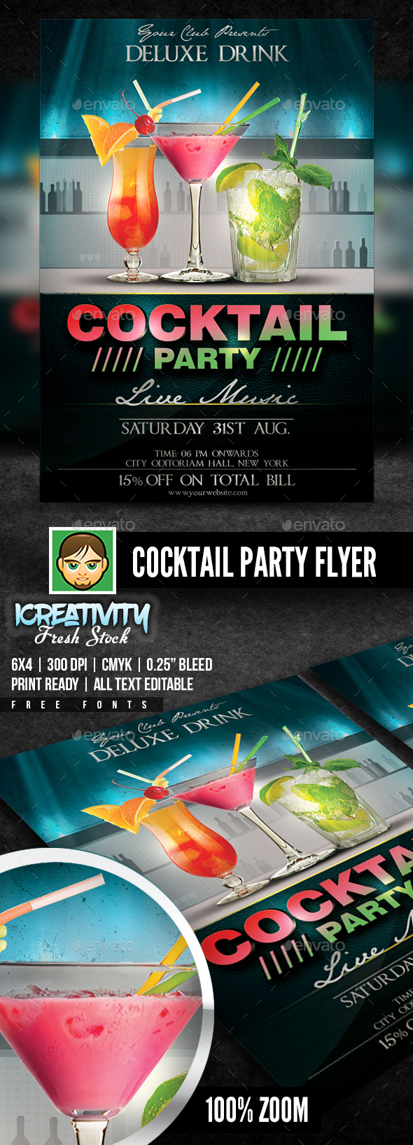 GraphicRiver Cocktail Party Flyer 20378921