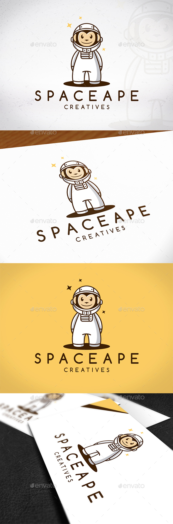 Space Ape Logo Template - Animals Logo Templates