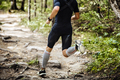 Dynamic Athlete Running Marathon