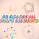 Colorful Shapes Elements
