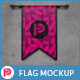 3D Vertical Flags Mock-Up (set 3) - GraphicRiver Item for Sale