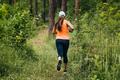 Girl Running on Forest Trail - PhotoDune Item for Sale