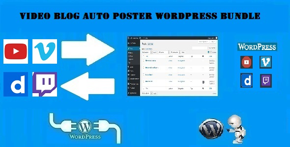 CodeCanyon Video Blog Auto Poster WordPress Bundle by CodeRevolution 20379373