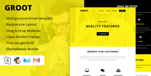 ThemeForest Groot Multipurpose Email Template 20379426