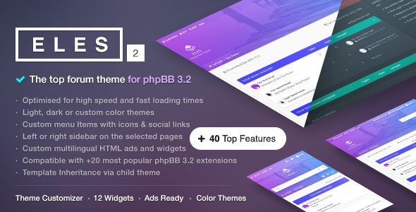 Eles - Responsive phpBB 3.1 Theme - PhpBB Forums