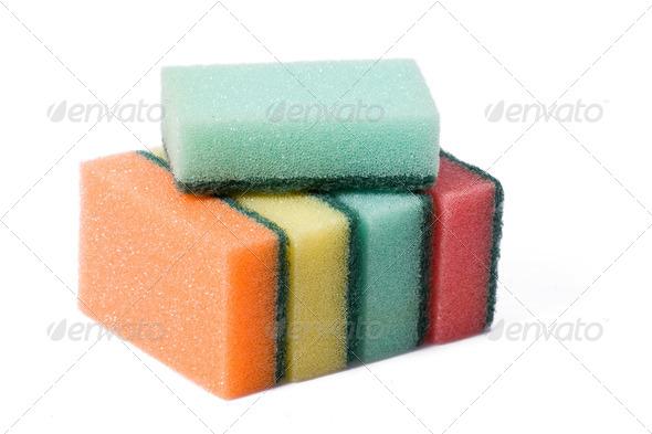 kitchen sponges - Stock Photo - Images