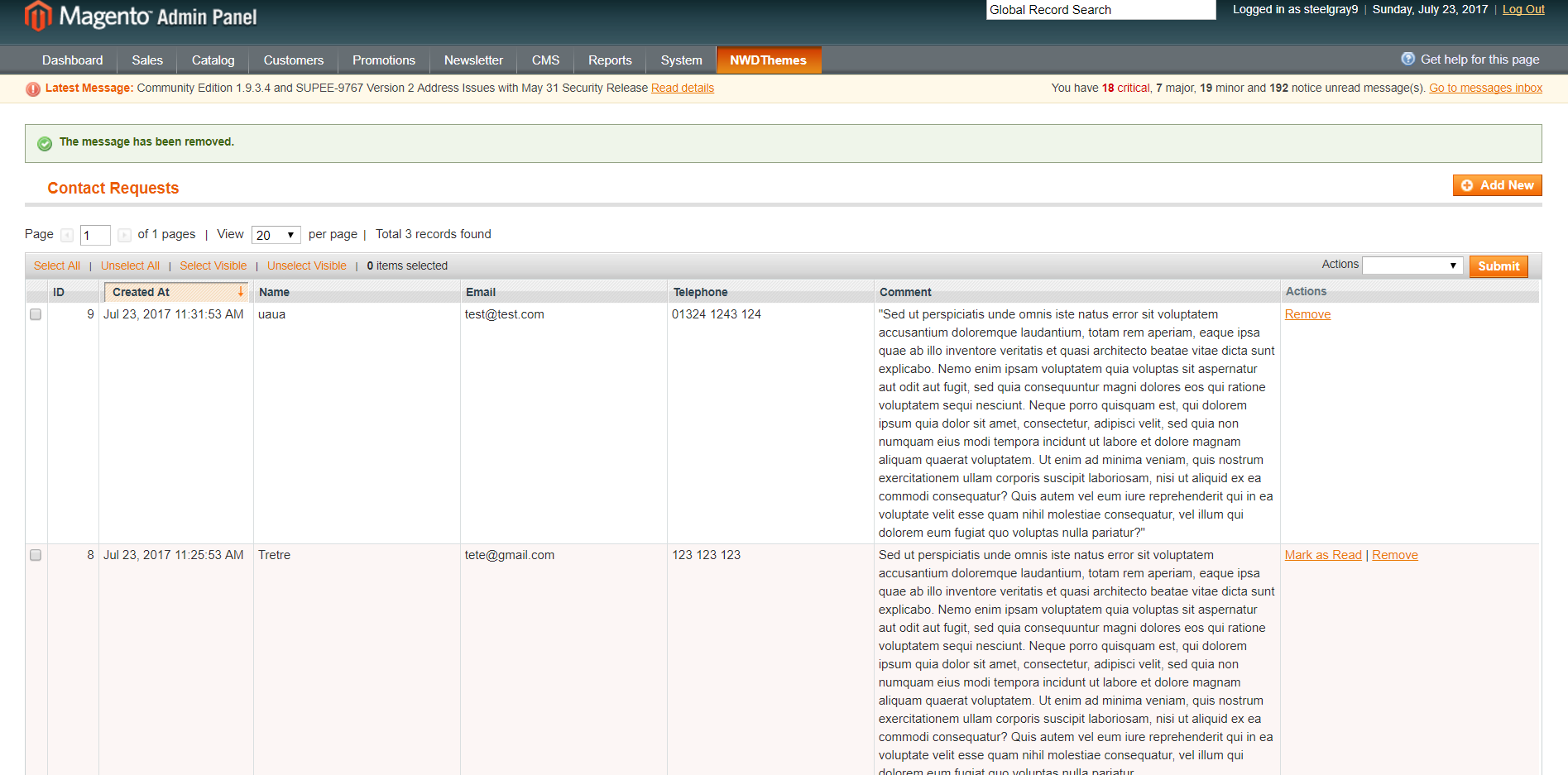 Floating Contact Form magento extension by nwdthemes   CodeCanyon
