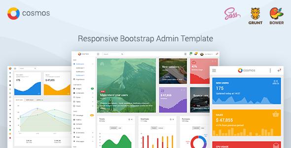 Cosmos - Responsive Bootstrap Admin Dashboard Template