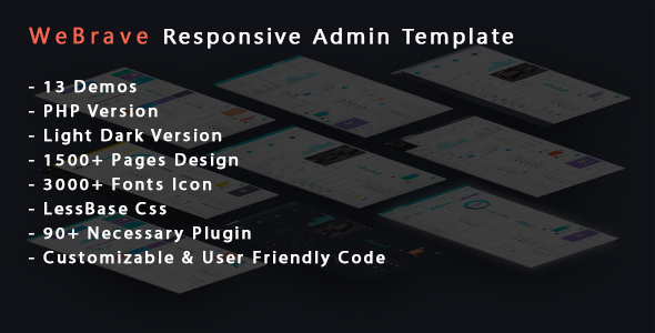 WeBrave Admin Responsive Multi-Purpose HTML Template
