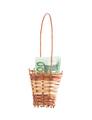 Wicker basket full of euro bills. - PhotoDune Item for Sale