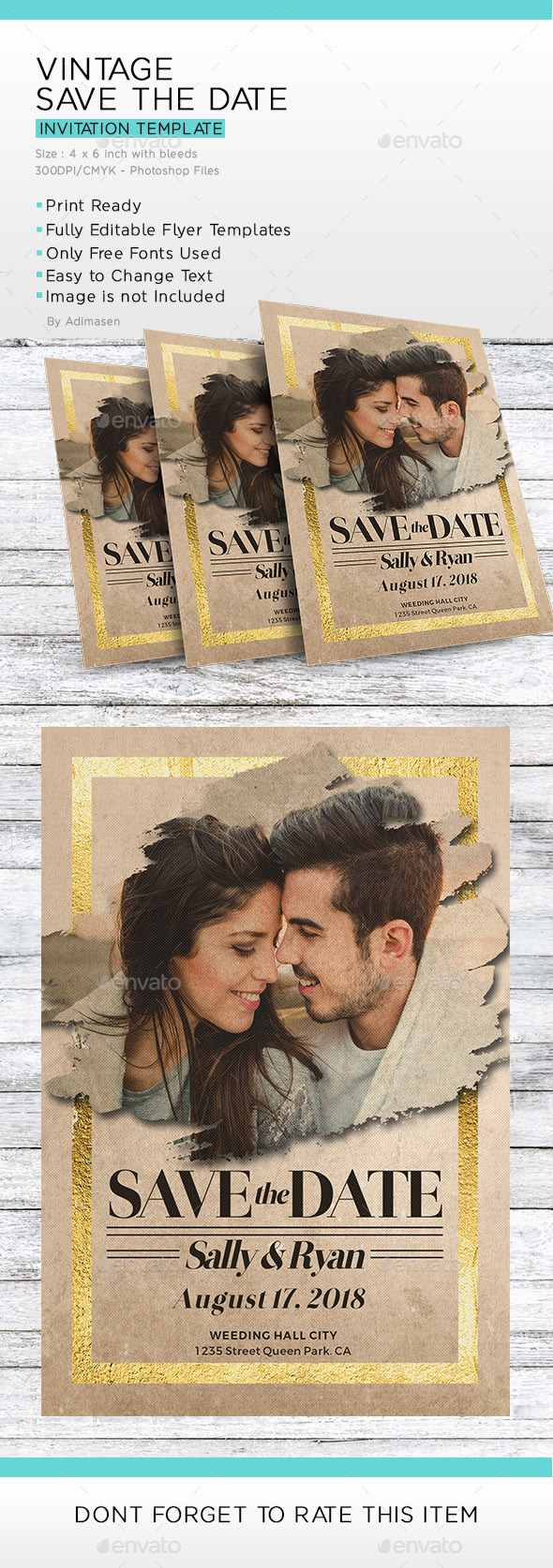 Vintage Save The Date - Wedding Greeting Cards