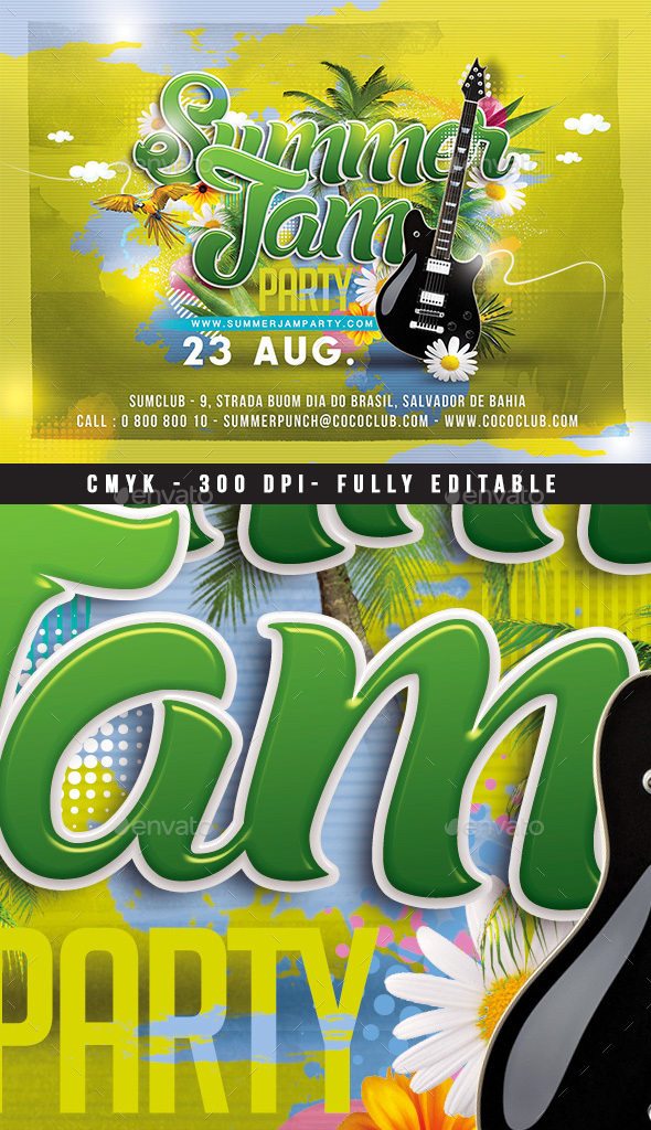 GraphicRiver Summer Jam Party 20380308