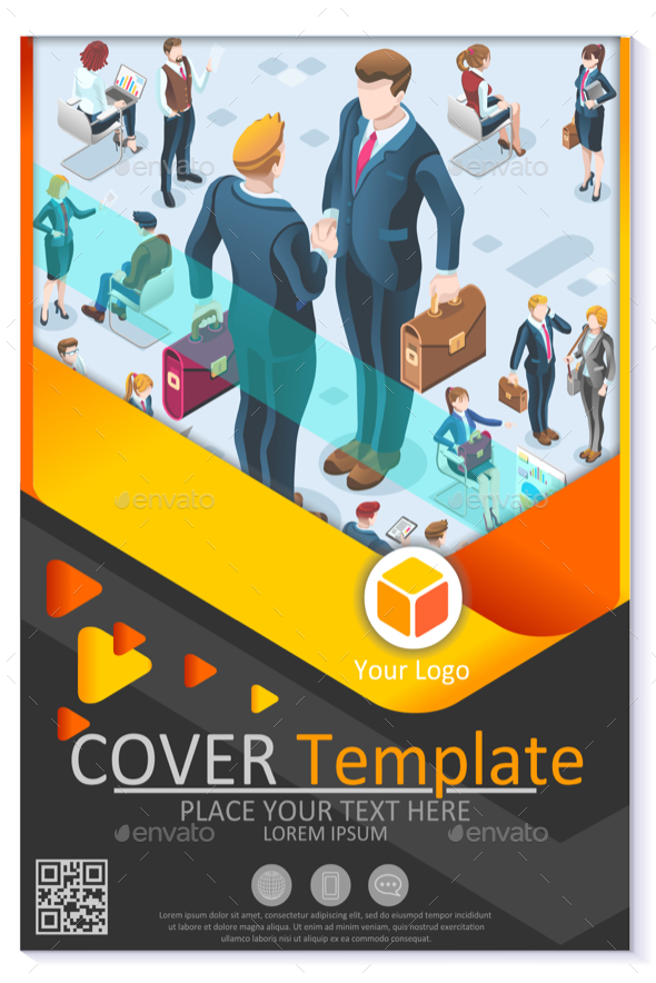 Newsletter Customizable Vector Template Corporate Magazine - Vectors