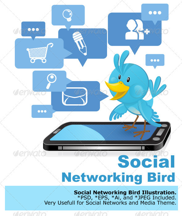 Social Networking Media Bluebird  - Animals Characters