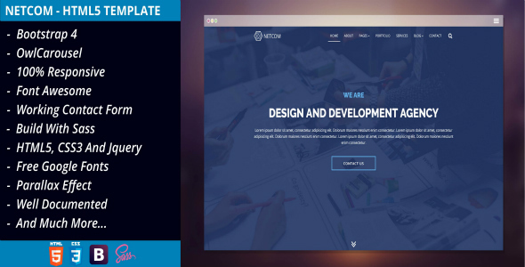 NetCom - Creative Agency, Corporate Business, Multipurpose HTML5 Template