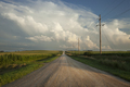 Rural Road with Dramatic Clouds in Southern Minnesota at sundown - PhotoDune Item for Sale