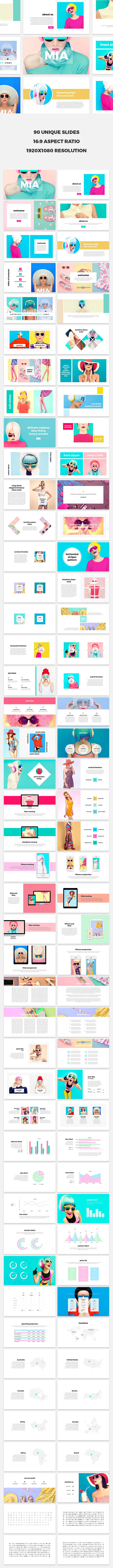 Mia Keynote Template - PowerPoint Templates Presentation Templates