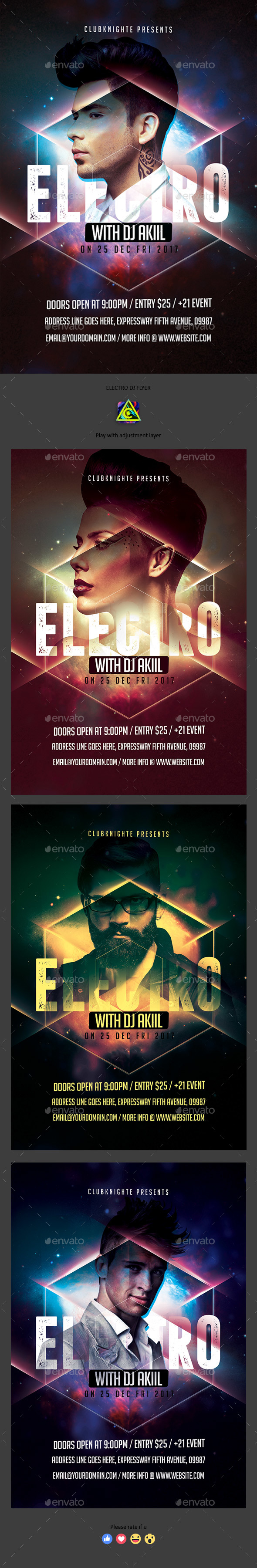 Electro Dj Flyer - Clubs & Parties Events