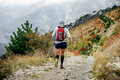 Athlete Runner in Compression Socks