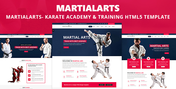 MartialArts- Responsive Template for Karate Academy & Martial Arts Training