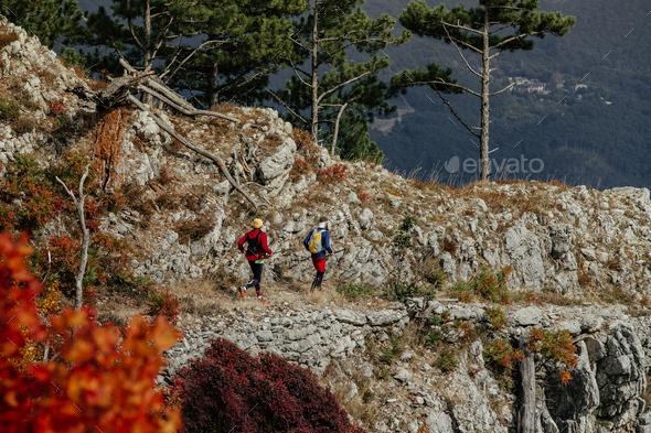 Two Runners Skyrunner - Stock Photo - Images