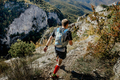 Male Athlete in Mountain Trail