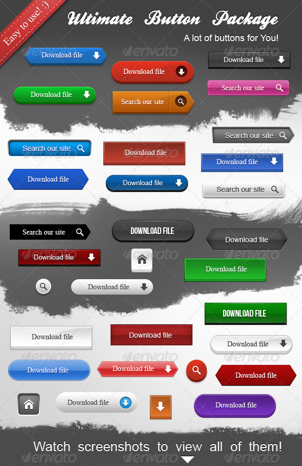 Ultimate Button Package - Buttons Web Elements